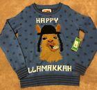 Tipsy Elves Adult SM Happy LLamakkah Ugly Christmas Sweater Blue Knit Mens SML