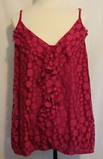 CITY CHIC ~ Magenta Pink V-Neck Spaghetti Strap Dot Design Mesh Netting Cami XL