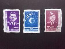1962 - Romania - Vostok 3 and 4,Mi.2096 - 2098 MNH