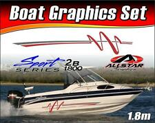 Boat Graphic Sticker Kit, Vinyl stripe decal for Marine or Automotive. SS_2B1800