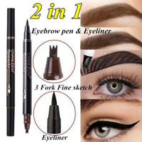 Tip Waterproof Liquid Eyeliner Eyebrow Pen Tattoo Pen Sweat-proof Eye Make Up UK