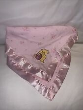 Classic Pooh 'Sweet Flower' Baby Security Blanket Pink Floral