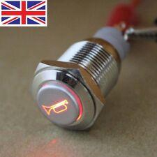 16mm 12V LED Momentáneo Botón Interruptor De Metal Para Coche Y Barco Altavoces