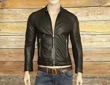 Diesel L-FRANKLIN Jacket in Black Size Medium 100% Sheepskin Leather was $698.00