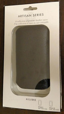 NIB  Artisan Black Leather Glide Case For iPhone 4 8GB 16GB 32GB 4S 16