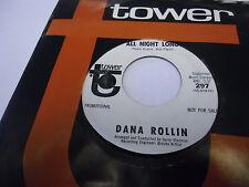 Dana Rollin Best Friend/All Night Long 45 RPM Tower Records VG