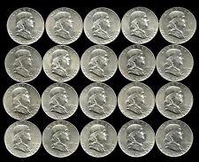 1 Roll__1949-P  Franklin Silver Half Dollars__BU/UNC___#809LH17