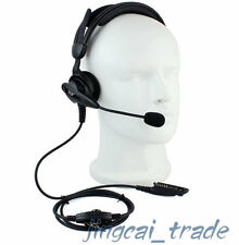 Heavy Duty Overhead Headset for Motorola radio GP328 GP340 GP380 with boom mic