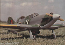 "Model Airplane Plans: HAWKER HURRICANE 70"" span,  .61 engine, 4 channel RC"