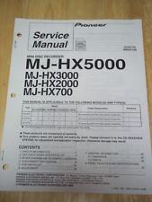 Pioneer Service Manual~MJ-HX5000/HX3000/HX2000/HX700 Mini disc Recorder~Original
