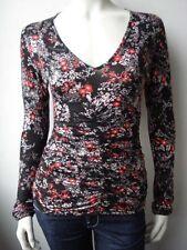 Fornarina Damen T-Shirt Top Nil-Black Stretch Neu M