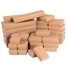 12/24/48/72/96PCS Khaki Kraft Cotton Filled Gift Boxes Jewelry Cardboard Boxes