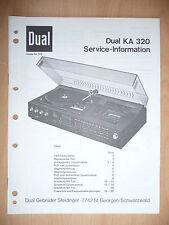Service Manual Dual KA 320 HiFi System, ORIGINAL