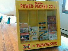 Winchester 22 ammo boxes,shotgun shell boxes, blasting cap tins display case