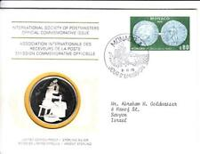 1976 Int'l Society of Postmasters The First coins Struck in Monaco Silver Medal