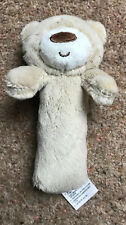 Baby Teddy Bear Soft Rattle - VGC - Mothercare