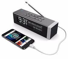 Majority DAB Digital FM Radio Alarm Clock With USB Charging Black