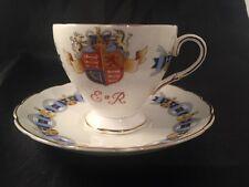 Foley Bone China Coronation Queen Elizabeth 1953 Royal Memorabilia Cup And Sauce