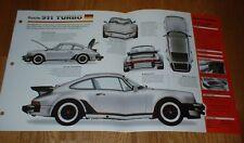 1976 Porsche 911 Turbo Originale imp Brochure Specifiche Info 76 1977 77 Coupe