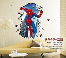 Spider-man 3D image home Decor Removable Wall Sticker/Decal/Decorations