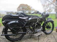 1924 AJS 799cc V Twin outfit Vintage  Motorcycle combination collectors machine