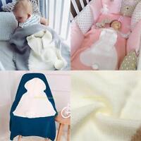 Süß Kinder Hase Decke Warm Weich Bettwäsche Handtuch Abdeckung Überwurf Wrap