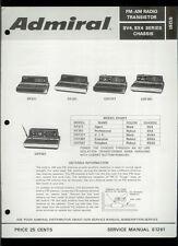Rare Factory Admiral Rf371/871 Crf371/381/551 Clock Am Fm Radio Service Manual