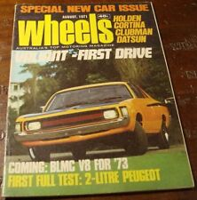 1971.WHEELS.FORD FAIRLANE.Citroen DS 21.Triumph STAG.VH Valiant.Peugeot 504