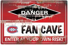 NHL MONTREAL CANADIENS FAN CAVE SIGN