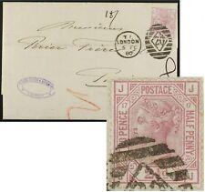 1880 2 1/2d rosy mauve PLATE 17 (SG 141/Sc67) folded letter London to Paris