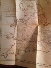 Rare 1799 Iter Britanniarum With Fold Out Maps; Road Map of Roman Britain