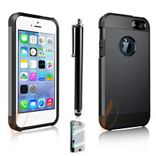 iPhone 5S 5, Dust Resistant Shockproof Metallic Armor Metal 2-Layers Cover Case