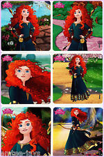 Brave Stickers x 6 - Birthday Party Supplies - Favours - Disney Princess -Merida