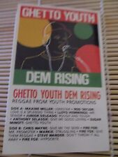 Ghetto Youth DEM Rising Various Artists RETRO compilation MIX cassette Tape