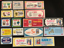 17 Vintage 1973-76 Kellogg's & Post & More Cereal Coupons + Aim & Lovin Spoonful