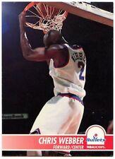 Chris Webber #382 balas Nba Hoops 1994-5 Skybox Tarjeta de Baloncesto (C498)