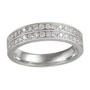 Gemsake 0.43 carats Round Diamond Half Eternity Ring Wedding Anniversary Gift