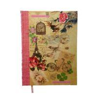 A4 Vintage Shabby Chic Rigido Notebook Foderato Parigi Scuola College Casa