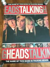 Rare Talking Heads Byrne Promo Poster The Name of This Band is Talking Heads
