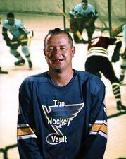 """HOFer Cup WINNER #1 Glenn """"Mr. Goalie"""" HALL St. Louis BLUES Red Wings 8X10 WOW!!"""