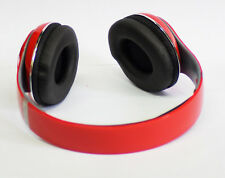 New Foldable Stereo Bluetooth Headset Wireless Stereo Headphones SD Card FM Red