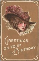 Cobb X. Shinn Artist Signed Greetings On Your Birthday c1910 Postcard - Unposted