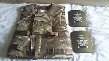 BRITISH ARMY ISSUE ECBA IS MTP BODY ARMOUR COVER, WITH FILLER AND PLATES 190/120