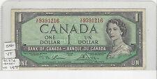 **1954**Canada $1 Note, Lawson/Bouey. BC-37d ; V/F 9391216