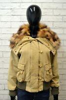 Giubbotto Donna MARLBORO CASSICS Taglia L Giacca Peliccia di COYOTE Jacket Woman