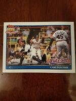 1991 Topps CARLTON FISK Baseball Card #170 Chicago White Sox