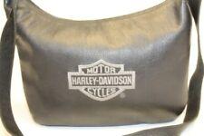 Harley-Davidson Motorcycle Womens Black Leather Zip Top Hobo Shoulder Bag