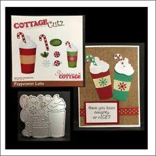 Peppermint Latte Coffee to Go metal die set - Cottage Cutz cutting dies CC-179