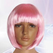 New Ladies pink wig Fancy Dress Fun Hen Party Transvestite je sais Crossdresser