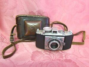 Agfa Karat Compur alte Kamera analog mit Ledertasche vintage photo camera 10368
